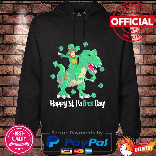 2021 happy st patrex day leprechaun s Hoodie black