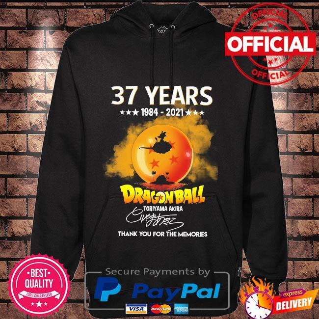 37 years Dragon Ball toriyama Akira thank you for the memories signatures s Hoodie black