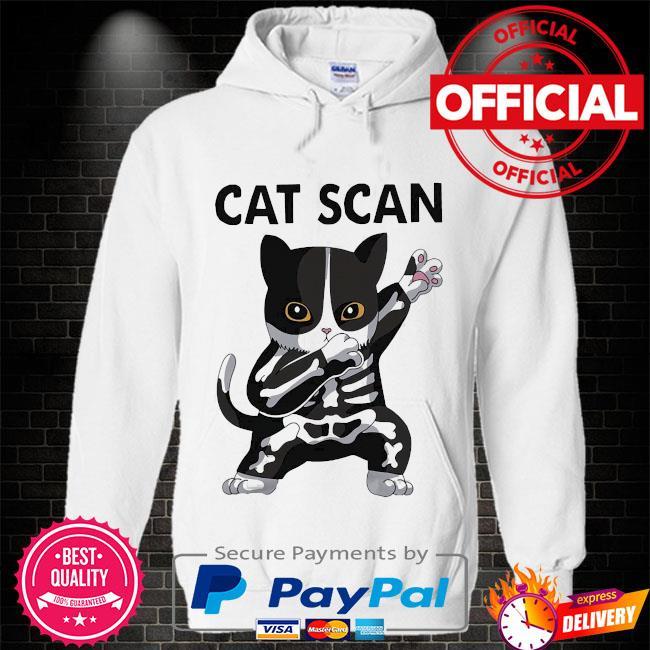 Dabbing Cat scan s Hoodie white