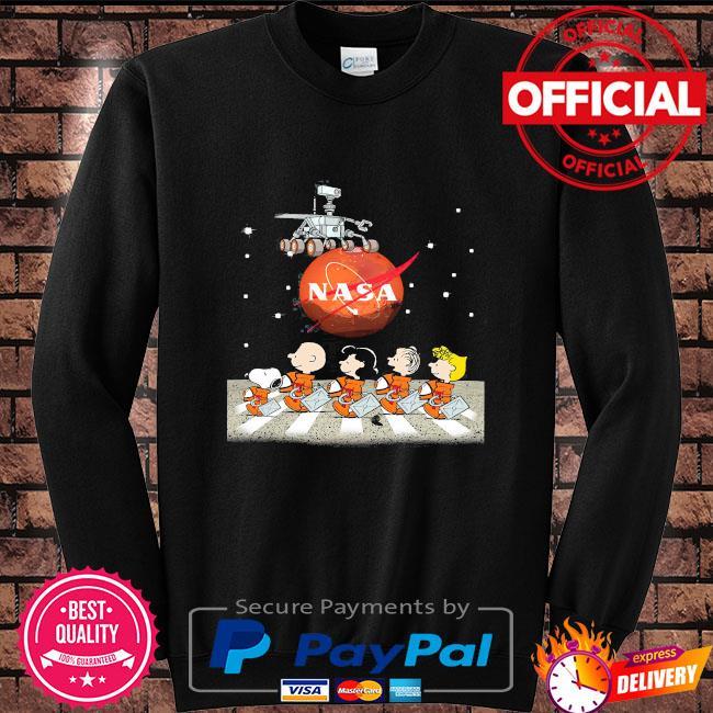 Nasa snoopy and Peanuts gang abbey road s Sweater black