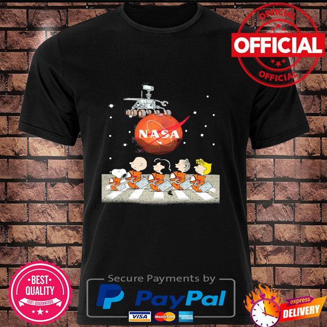 Nasa snoopy and Peanuts gang abbey road shirt