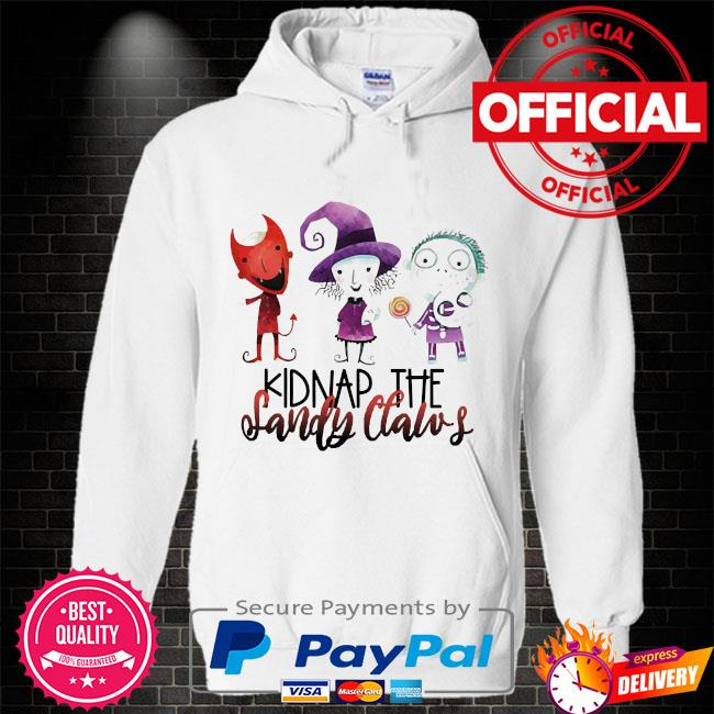 Official kidnap the sandy claws Hoodie white
