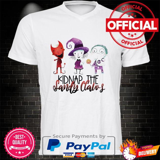 Official kidnap the sandy claws shirt