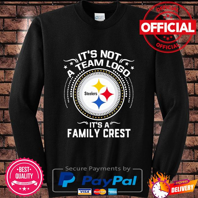 Pittsburgh Steelers it's not a team logo it's a family crest s Sweater black