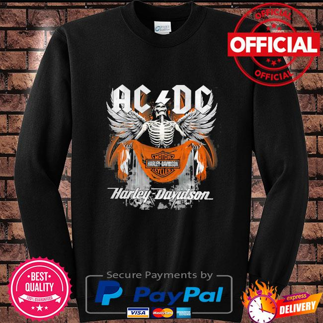 Skeleton ac Dc motor harley davidson s Sweater black
