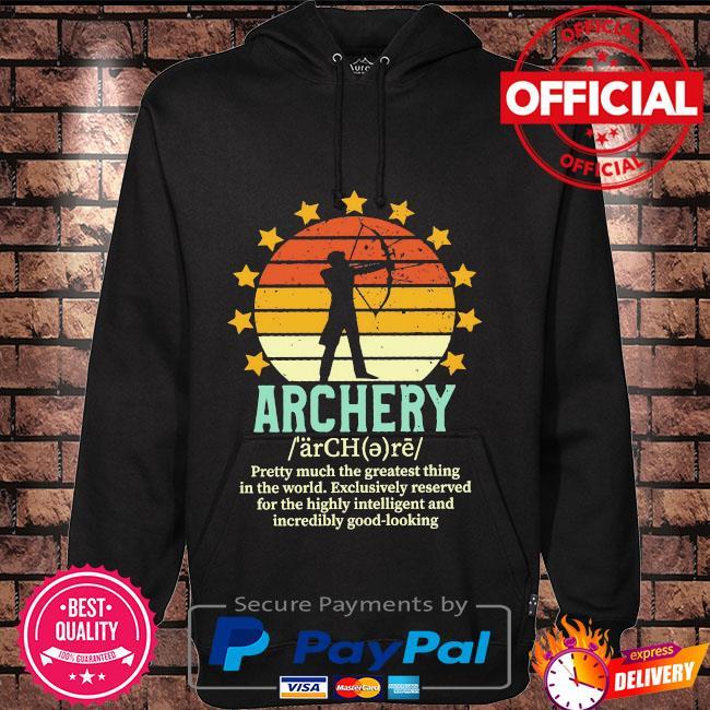 Archery vintage Hoodie black