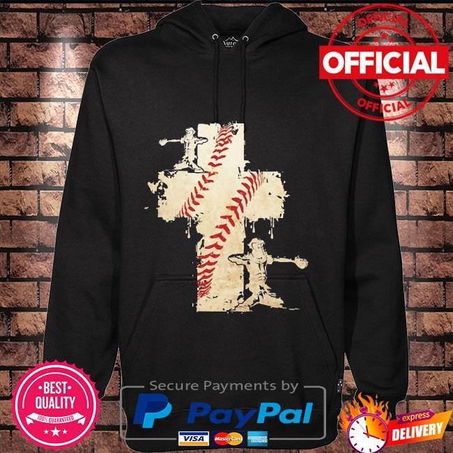 Baseball cross Hoodie black