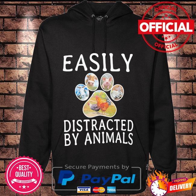 Easily distracted by animals Hoodie black