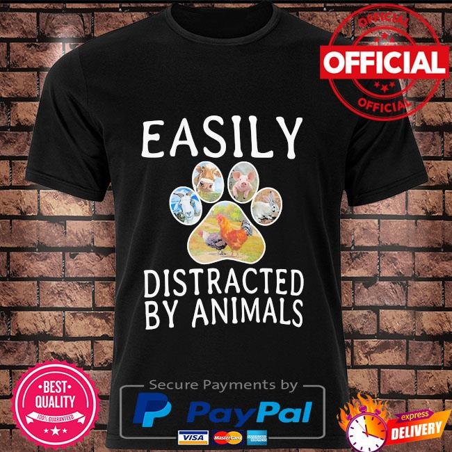 Easily distracted by animals shirt