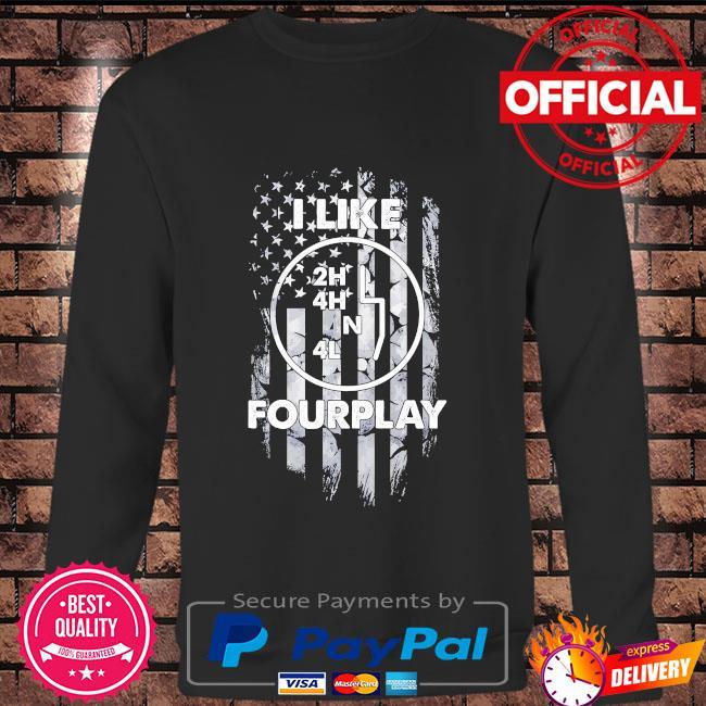 I like foreplay American flag Long sleeve black
