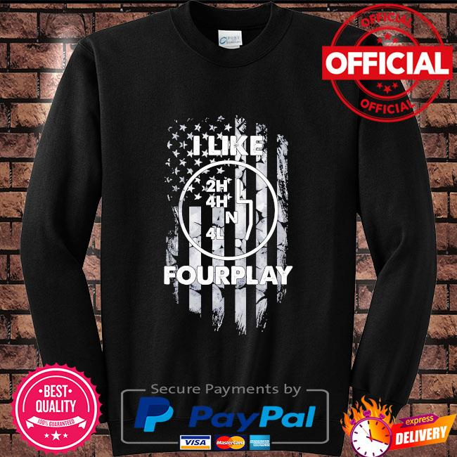 I like foreplay American flag Sweater black