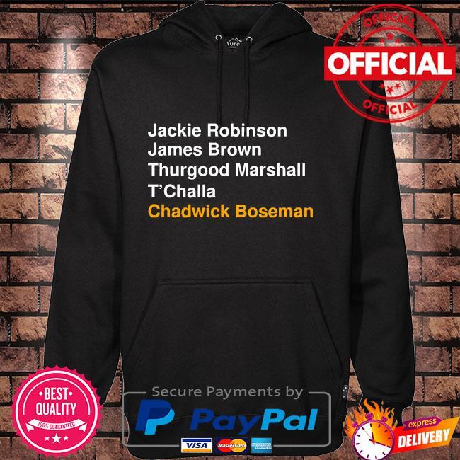 Jackie robinson james brown thurgood marshall t'challa chadwick boseman Hoodie black