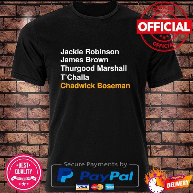 Jackie robinson james brown thurgood marshall t'challa chadwick boseman shirt