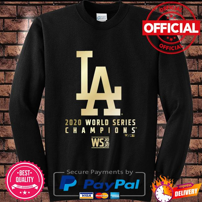 Black LA Dodgers T-Shirt Men/'s Fanatics 2020 World Series Parade T-Shirt New