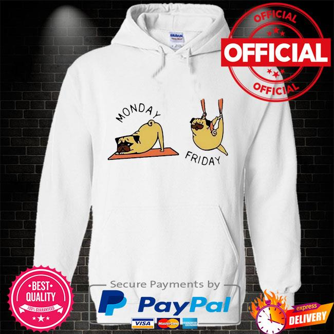 Monday and friday Hoodie white