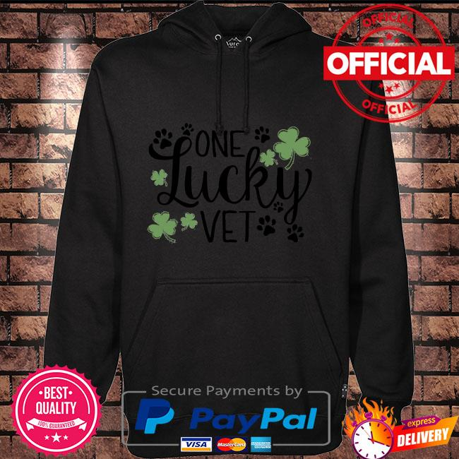One lucky vet St. Patrick's Day Hoodie black