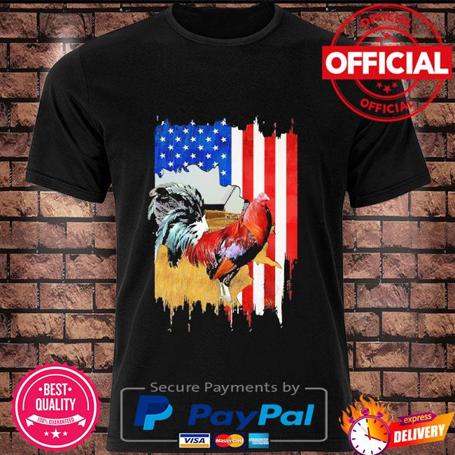 Rooster American flag shirt
