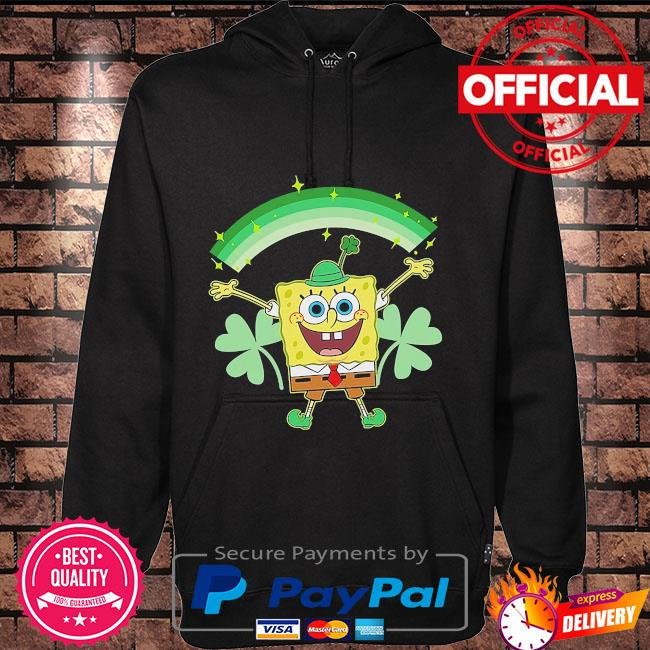 Spongebob squarepants st patrick's day shamrocks Hoodie black