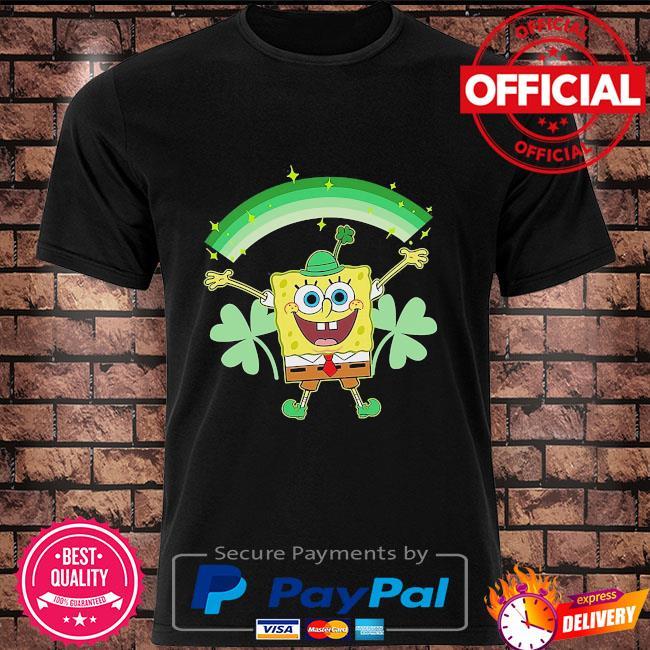 Spongebob squarepants st patrick's day shamrocks shirt