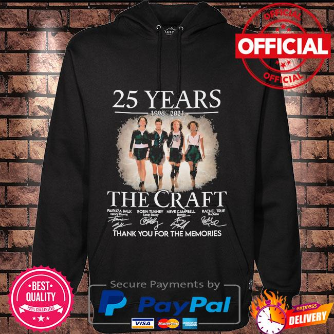 25 years The Craft thank you for the memories signatures Hoodie black