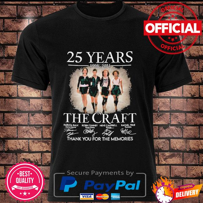 25 years The Craft thank you for the memories signatures shirt