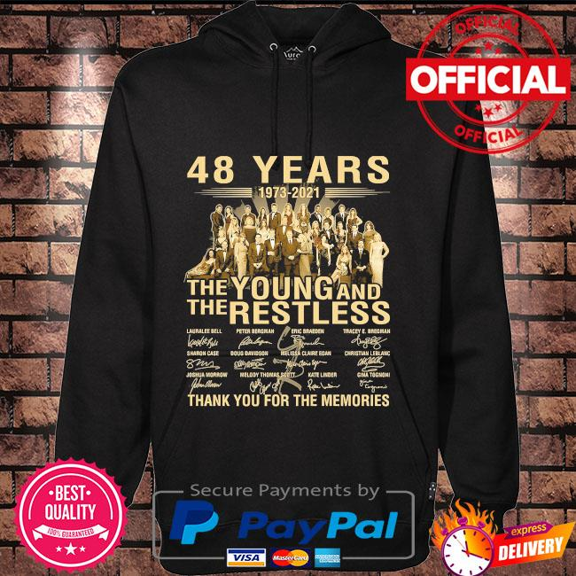 48 years The Young and The restless thank you for the memories signatures Hoodie black