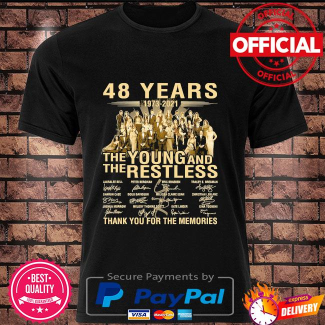 48 years The Young and The restless thank you for the memories signatures shirt