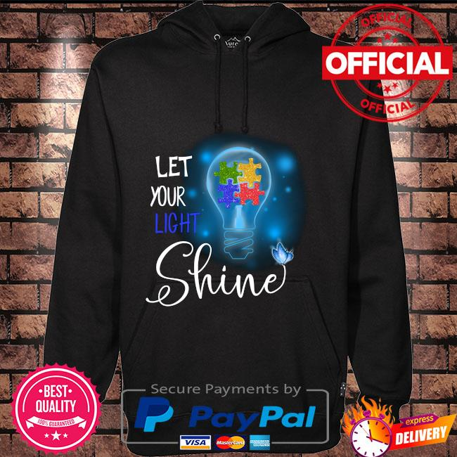 Autism let your light shine Hoodie black