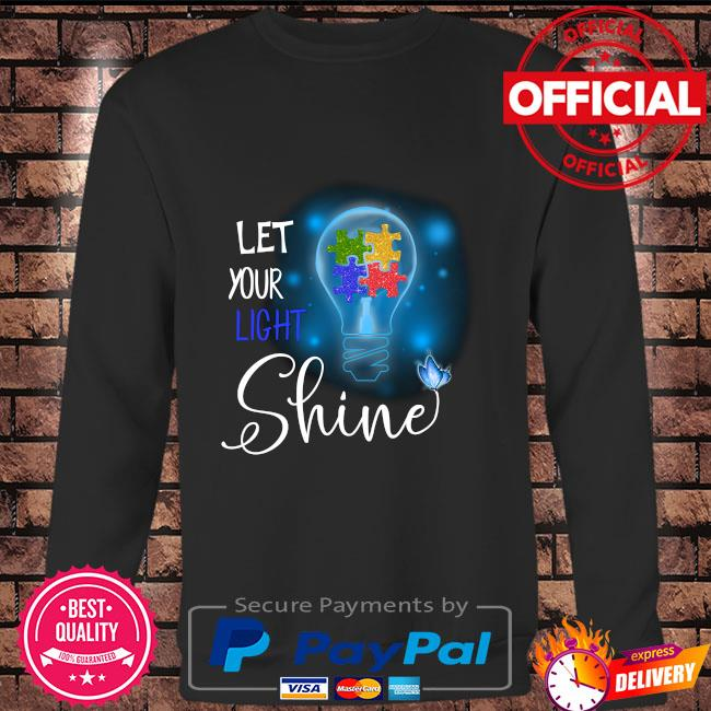 Autism let your light shine Long sleeve black