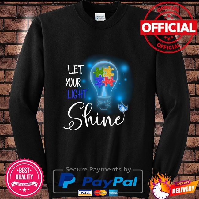 Autism let your light shine Sweater black