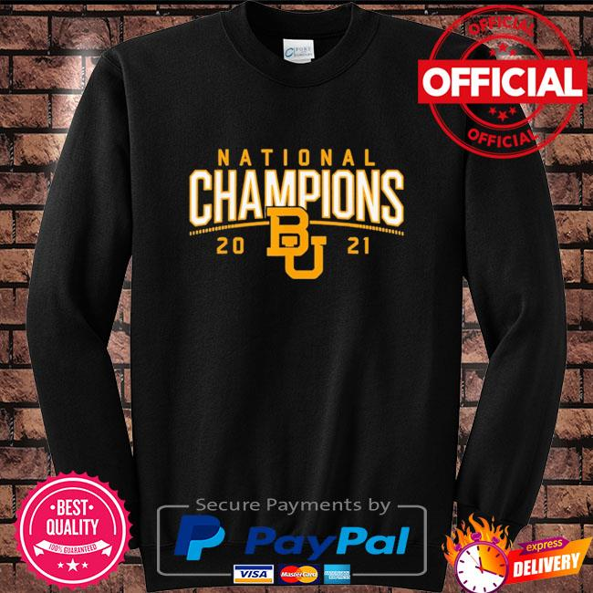 Baylor Bears national champions 2021 Sweater black