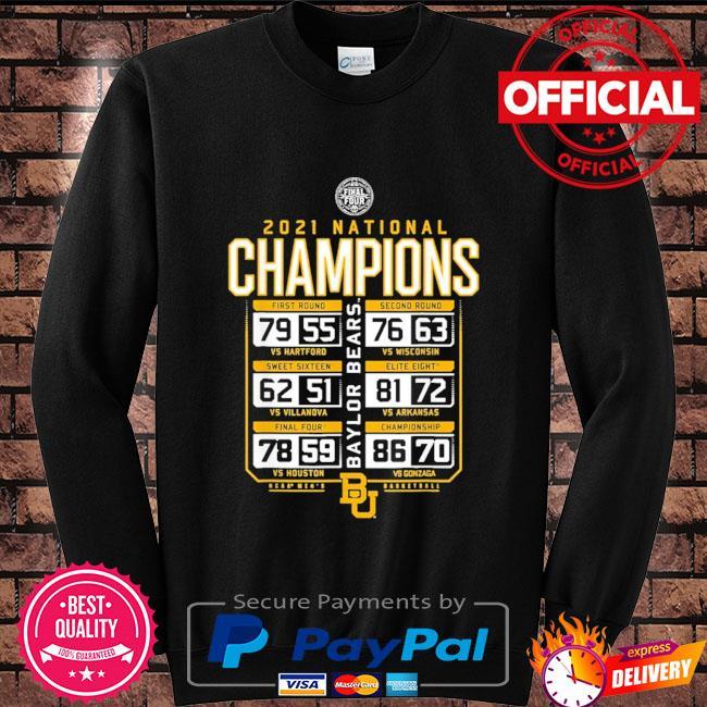 Baylor national championship 2021 Sweater black