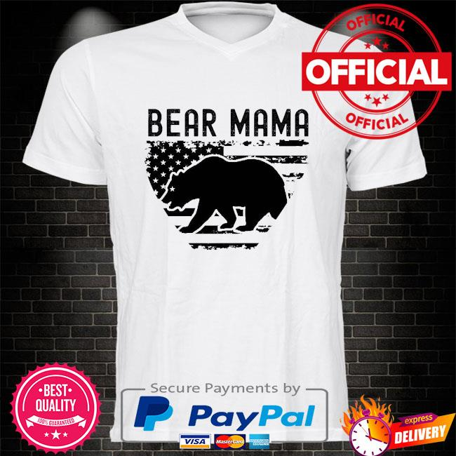 Bear Mama American flag shirt