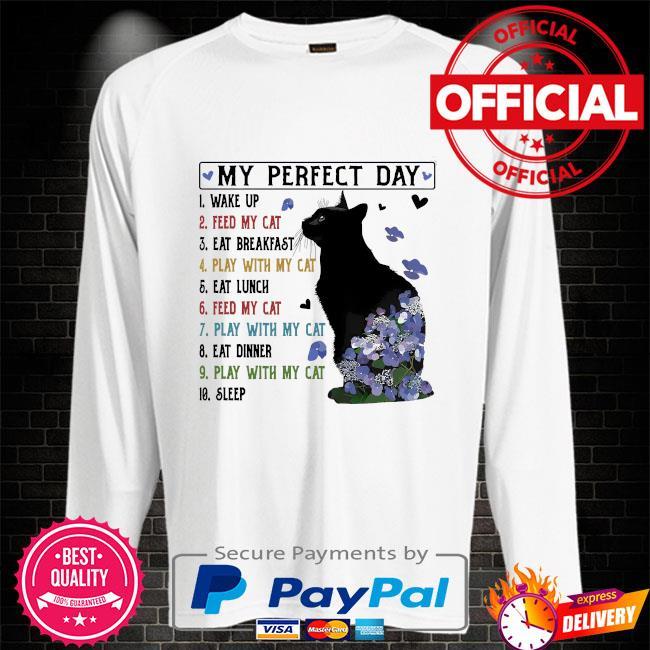 Black Cat my perfect day Sweater white