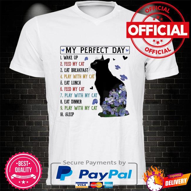 Black Cat my perfect day shirt