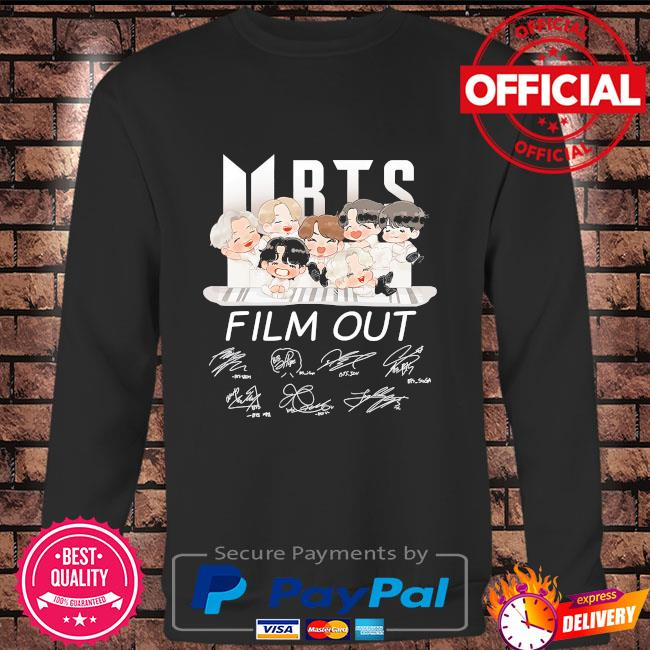 BTS Dynamite film out signatures Long sleeve black