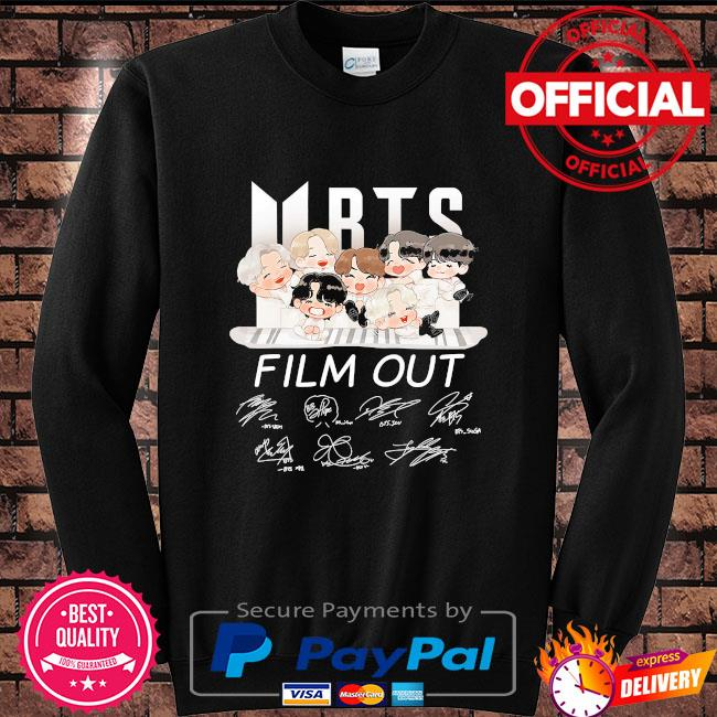 BTS Dynamite film out signatures Sweater black