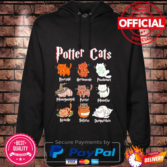 Cat halloween hogwarts Hoodie black
