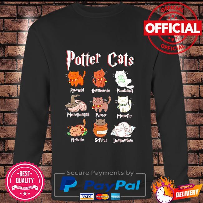 Cat halloween hogwarts Long sleeve black