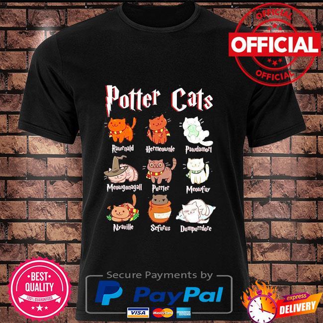 Cat halloween hogwarts shirt