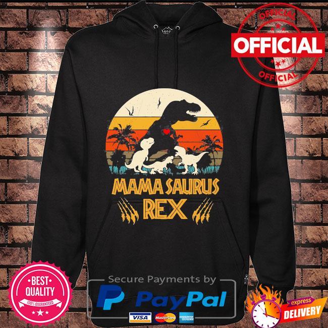 Dinosaur mamasaurus rex vintage Hoodie black