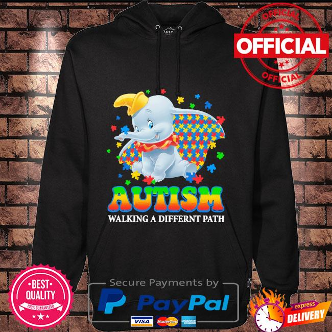 Elephant Autism walking a different path Hoodie black