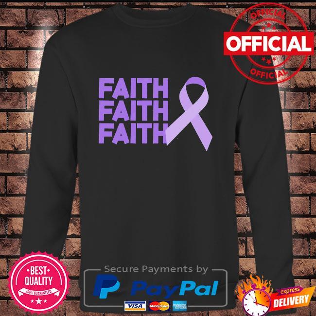 Faith faith faith domestic violence awareness Long sleeve black