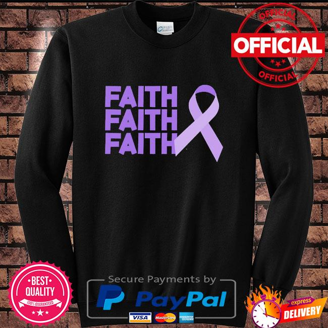 Faith faith faith domestic violence awareness Sweater black