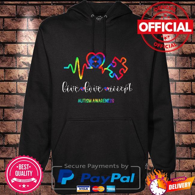 Live love accept autism awareness Hoodie black