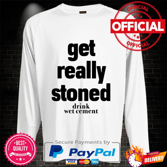Matthew get really stoned drink wet cement Sweater white