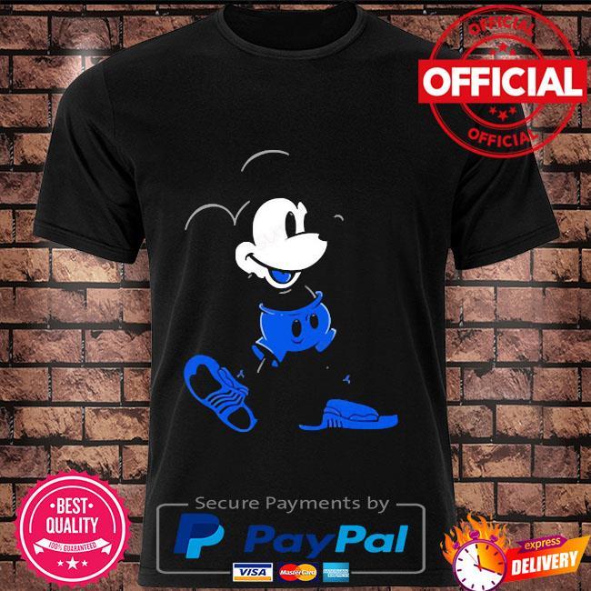 Mickey mouse Jordan 12 game royal matching shirt