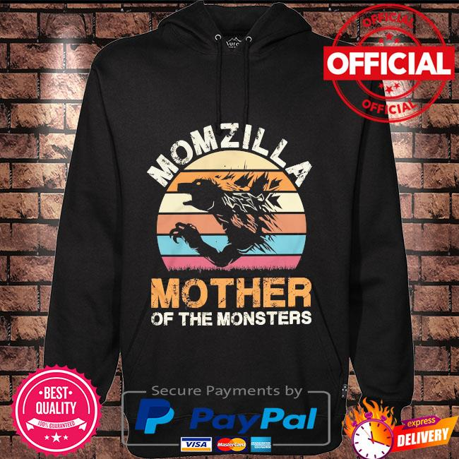 Momzilla mother of the monsters vintage Hoodie black