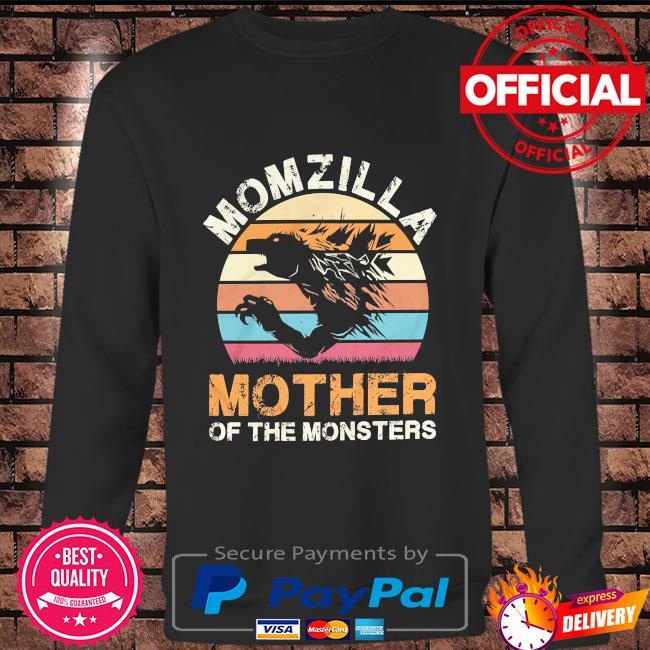 Momzilla mother of the monsters vintage Long sleeve black