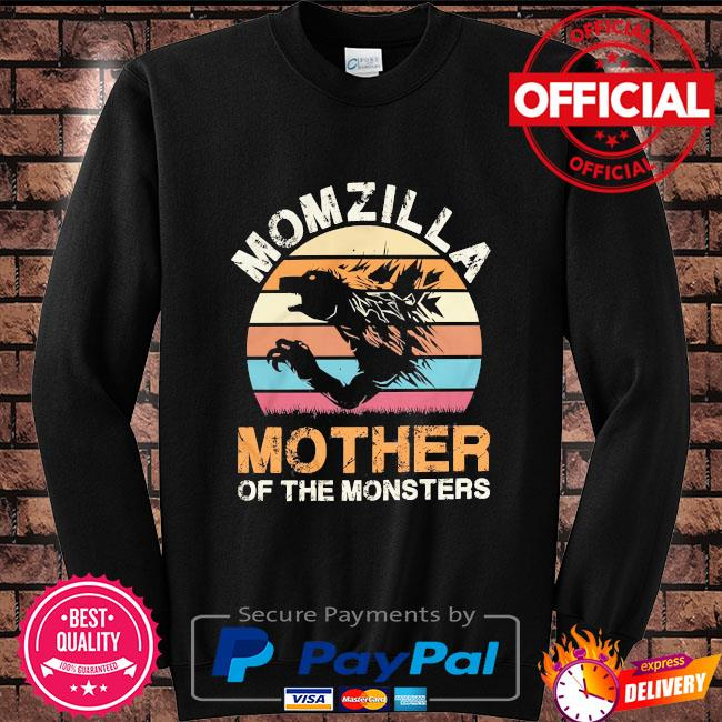 Momzilla mother of the monsters vintage Sweater black